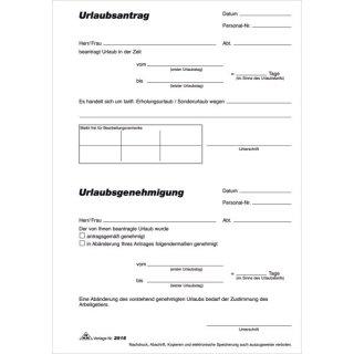Urlaubsantrag - Block, 50 Blatt, DIN A5