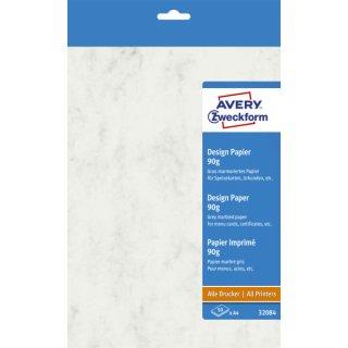 Avery Zweckform® 32084 Design Papiere, DIN A4, unbeschichtet, 90 g/m², 50 Blatt