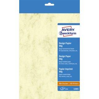 Avery Zweckform® 32085 Design Papiere, DIN A4, unbeschichtet, 90 g/m², 50 Blatt