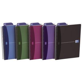 Office Spiralbuch - A5, 7 mm liniert, 90 Blatt, sortiert