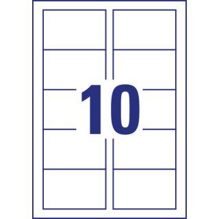 Avery Zweckform® C32016-500 Premium Visitenkarten, 85 x 54 mm, beidseitig beschichtet - satiniert, 500 Blatt/5.000 Karten