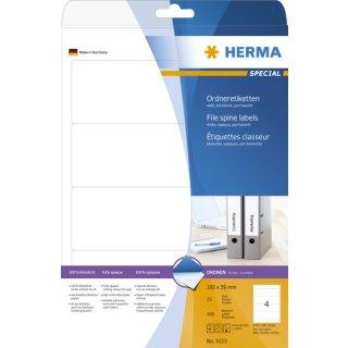 5123 Ordneretiketten A4 weiß 192x59 mm Papier matt blickdicht 100 St.