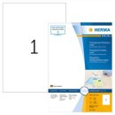 HERMA Etiketten transparent 210x297 mm Folie matt 100 St.