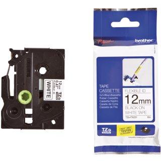 TZe-FX231 Schriftbandkassette - laminiert, 12 mm x 8 m, schwarz auf weiß