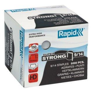 Rapid Heftklammern 9/14mm Super Strong, verzinkt, für alle Blockheftgeräte. Inhalt: 5000 Stück.