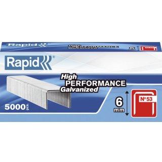 RAPID Heftklammern 53/6mm, Stahl, verzinkt, 5000 Stück