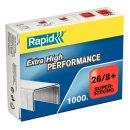 RAPID Heftklammern 26/8+mm Super Strong, verzinkt, 1000...