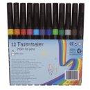 Faserschreiber, non-permanent, ca. 1-2 mm, Etui mit 12...