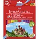 Buntstift Castle - 48 Farben, hexagonal, Kartonetui mit...