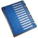 5912 Deskorganizer Color 1-12 - 12 Fächer, Karton, blau