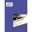 223 Fahrtenbuch - A5, steuerlicher km-Nachweis, 40 Blatt,...