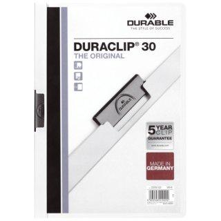 Klemm-Mappe DURACLIP® 30, DIN A4,weiß