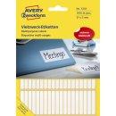 3322 Universal-Etiketten - 37 x 5 mm, weiß, 1.976...