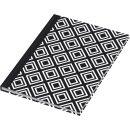 Notizbuch black&white rhombus - A5,...