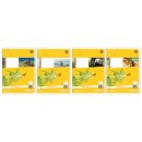 Heft LIN2 A5 32 Blatt 80g/qm 4/4/4mm liniert farbig