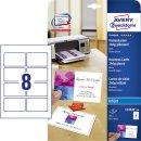 Avery Zweckform® C32028-10 Premium Visitenkarten, 85...