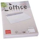 Briefumschlag Office - C6, hochweiß, haftklebung,...