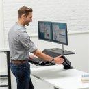 Lotus™ RT Sitz-Steh Workstation - 2 Monitore, schwarz