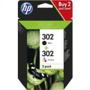 HP 302 DRUCKPATRONE COMBO 2- PACK (302 BK/TRI-COLOR),...