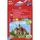 Buntstift Castle - 36 Farben, hexagonal, Kartonetui mit...