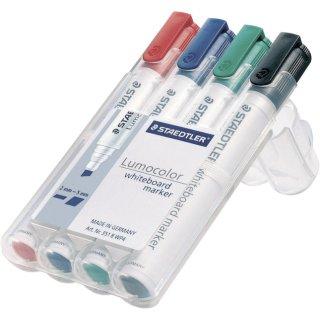 Board-Marker Lumocolor® 351 B whiteboard marker, STAEDTLER Box mit 4 Farben