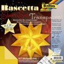 Bascetta Stern - gelb, transparent, Ø 30 cm