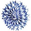 Partyfächer Bayern - Ø 50 cm, blau/weiß