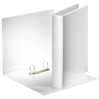 Ringbuch Präsentation, mit Taschen, A4, PP, 2 Ringe, 30 mm, weiß