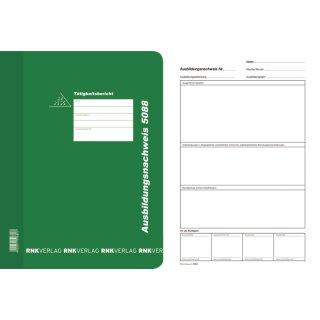 Ausbildungsnachweis-Hefter mit Block wöchentlich/monatlich, alle Berufe, für A4