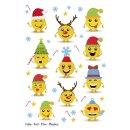15234 Sticker MAGIC Weihnachtsemojis - Folie