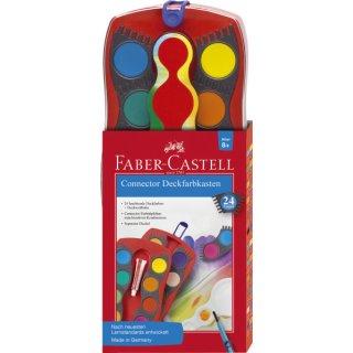 CONNECTOR Farbkasten 24 Farben, inkl. Deckweiß