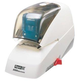 Elektrisches Flachheftgerät 5050e, 50 Blatt, weiß/grau