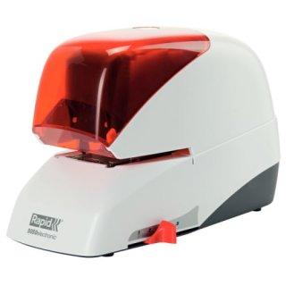 RAPID Elektrisches Flachheftgerät 5050e, 50 Blatt, silber/orange