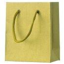 Geschenktragetasche Uni gold - klein