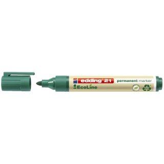 21 Permanentmarker EcoLine - nachfüllbar, 1,5 - 3 mm, grün
