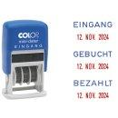 Mini-Dater - Datumstempel + Text GEBUCHT