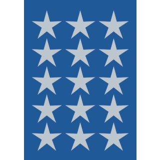Herma 3419 Sticker DECOR Sterne 5-zackig, silber Ø 22 mm