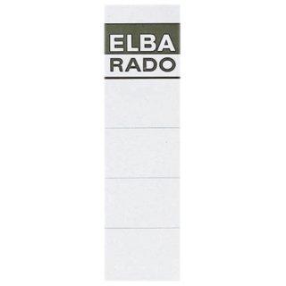 Einsteck-Rückenschilder - kurz/breit, weiß, 10 Stück