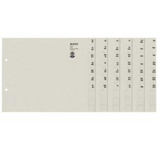 Leitz Registerserie A-Z, A4, Papier, für 150 Ordner, grau
