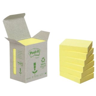 Recycling Notes, pastellgelb - 38 x 51 mm, 6 x 100 Blatt