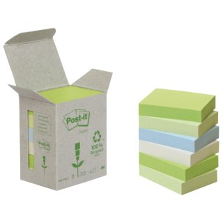 Recycling Notes, Rainbow pastell - 38 x 51 mm, 6 x 100 Blatt