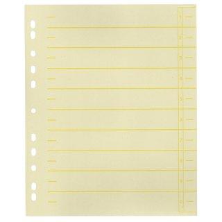Trennblätter, farbiger Organisationsdruck - A4 Überbreite, gelb, 100 Stück