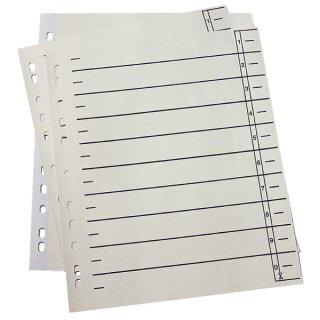 Trennblätter - A4 Überbreite, 230 g/qm Karton, chamois, 100 Stück