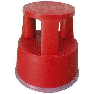 Rollhocker aus Kunststoff - Gewicht 2,9 kg, rot