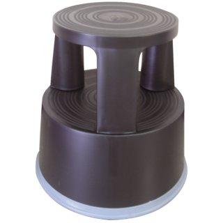 Rollhocker aus Kunststoff - Gewicht 2,9 kg, schwarz