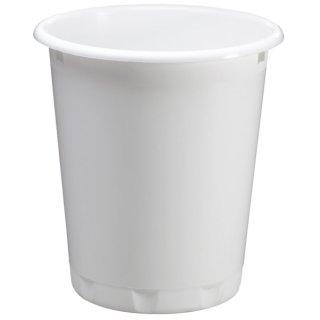 DURABLE Papierkorb BASIC, Polypropylen, rund, 290 x 320 mm (Ø x H), 13 l, weiß