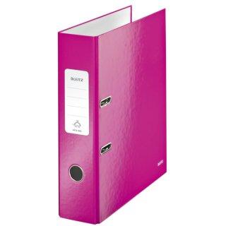 1005 Ordner WOW A4 - 80 mm, pink metallic