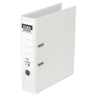 Ordner rado brillant -  Acrylat/Papier, A4, 80 mm, weiß