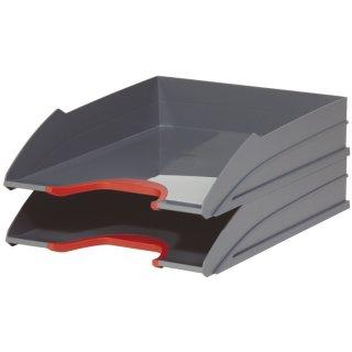 DURABLE Briefablageschale VARICOLOR® TRAY SET DUO, bis C4, rot, 2 Stück