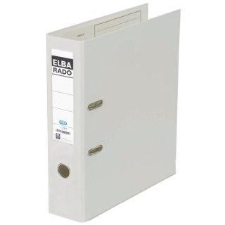 Ordner rado plast PVC/PVC - A4, 80 mm, weiß